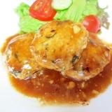 豆腐とひじきのマヨテリヤキハンバーグ