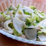10分でも❤蕪とツナのサラダ♪(ツナオイル利用)