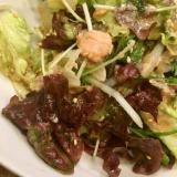 マグロの油漬フレークとレタスの中華風サラダ♪