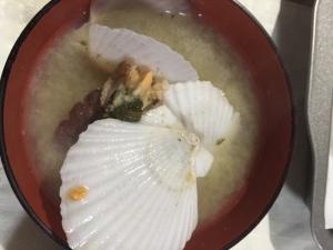 ホタテの味噌汁