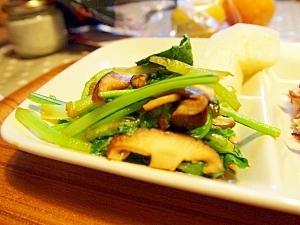 あと一品☆小松菜としいたけの炒め煮
