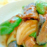ご飯のおかず⭐茄子・ピーマン・玉ねぎの甘辛味噌炒め