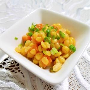もう一品に☆お豆とサーモンのオリーブオイル和え♪