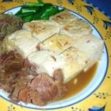 牛肉の大和煮缶を使ったお手軽肉豆腐