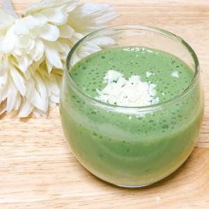 大豆プロテインꕤ青汁バナナヨーグルトスムージー