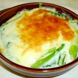 フライパンで簡単☆小松菜とツナのグラタン♪