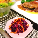 糖質制限☆紫キャベツと人参のマリネ