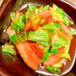 塩豚とキャベツの塩昆布煮汁炒め