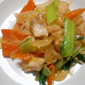 鶏肉・新玉ねぎ・人参の炒め煮