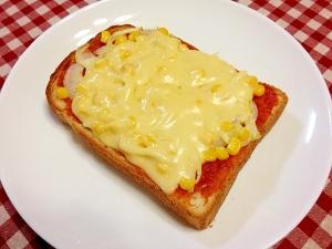 玉ねぎとコーン☆ピザトースト