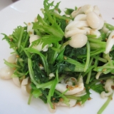 わさび菜と三つ葉のホットゴマサラダ