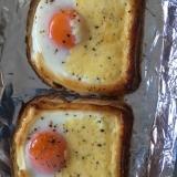 食パン、卵、マヨの3つでお手軽朝ごはん