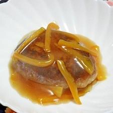 シュウマイのタネで甘酢あんかけハンバーグ