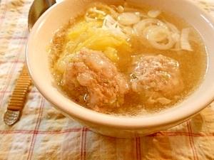 ♪餃子の具が余ったら〜丸めて〜スープ〜♬