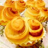 基本のパン生地de❤レモンティとシナモンの菓子パン