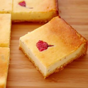 ホットケーキミックスで簡単&本格☆桜のチーズケーキ
