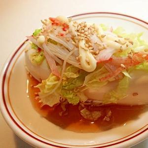麺つゆ/からしマヨで 白菜とシーサラダの冷奴