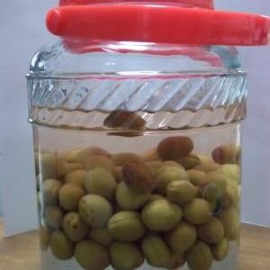 自家栽培の梅で梅酒