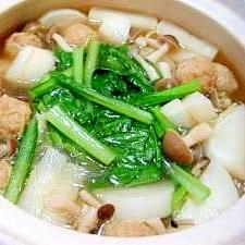 野菜たっぷり 大根を使った中華風お鍋
