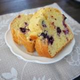 冷凍ブルーベリーでパウンドケーキ