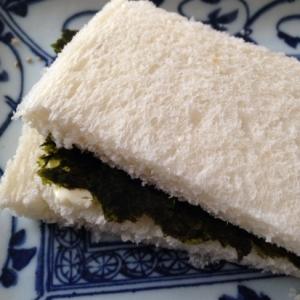海苔とごまチーズのサンドイッチ