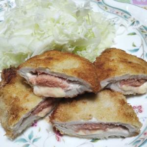 豚ロース肉で 明太子チーズトンカツ☆