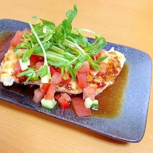 メカジキの野菜ソース掛け( 一一)