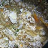 野菜と鶏むね肉の甘いスープ