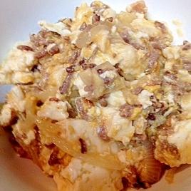 【糖質制限】ひき肉と玉ねぎのふわふわ炒り豆腐★