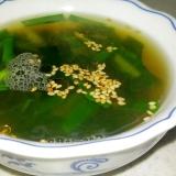 ニラとわかめの韓国風スープ