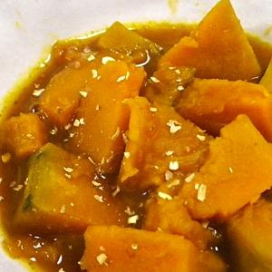 簡単、かぼちゃの麺つゆ黒酢煮