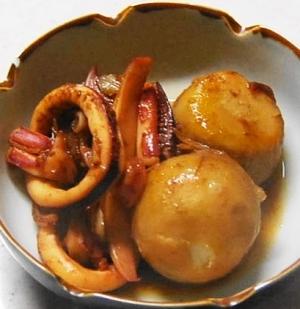 里芋とイカの簡単煮っころがし