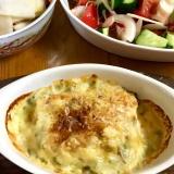 豆腐ととっくり芋のグラタン
