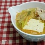 豆腐の豚キムチスープ