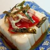 麺つゆマヨで 福神漬けとツナと刻み海苔の冷奴