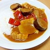 夏の赤い野菜カレー*