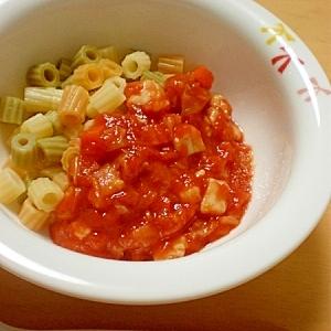 【離乳食後期】トマトピューレで作るトマトソース