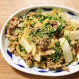 【夫婦のおつまみ】豚こま白菜と豆苗のオイスター炒め