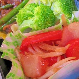 お弁当彩りアップ☆パプリカとベーコンもやし炒め