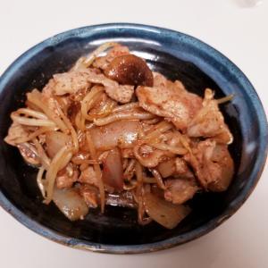 こってり★もやしと椎茸と玉葱と豚の激辛生姜焼き
