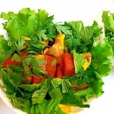 夏ですよ☆焼きズッキーニとトマトのハーブサラダ
