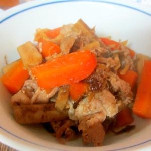 豚肉、にんじん、ごぼうの煮物(圧力鍋)