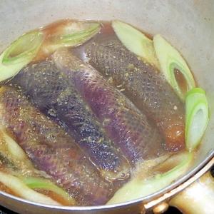 ネギとなすの煮物