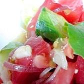 ミョウガドレッシングのざく切りトマトサラダ