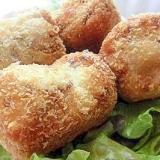 ひき肉入りの里芋コロッケ