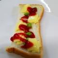 枝豆とベビーチーズのトースト