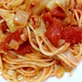 缶詰めで簡単!あさりとキャベツのスパゲティー