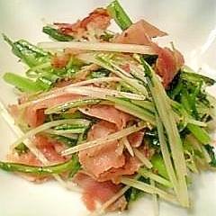 春菊と水菜の炒め物