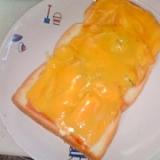 漬物をレタス代わりに かぼちゃ&チーズ・トースト