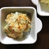 離乳食☆軟飯で鮭と野菜のおやき
